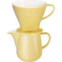 Porcelain Coffee Filter 1x4 & Porcelain Jug (Yellow)