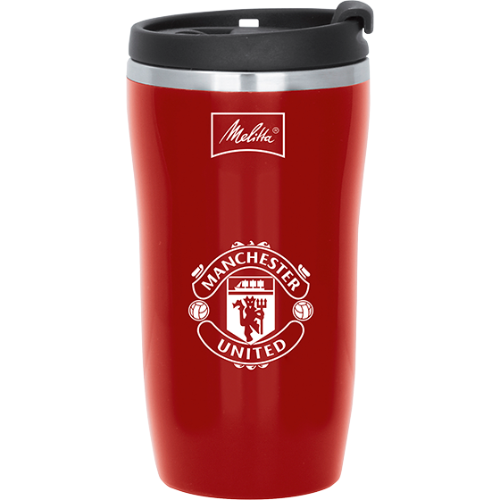 Man Utd Thermal Travel Mug, 250ml, Red