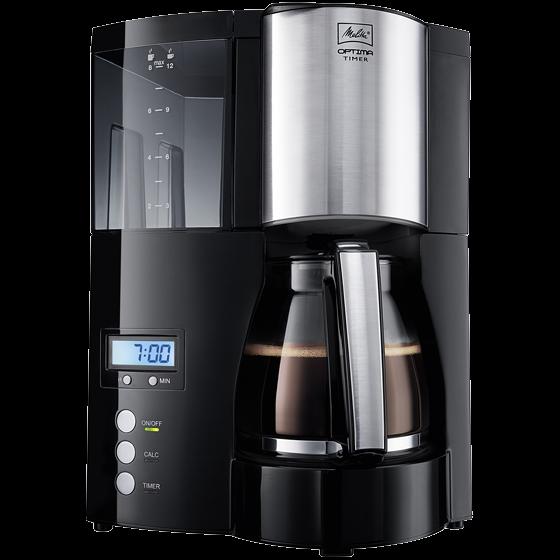 Optima Timer Filterkaffeemaschine, schwarz