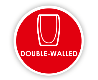 Double-walled glasses