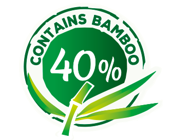 with 40% Bamboo