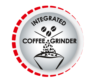 Integrated grinder with grinding level settings