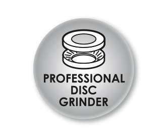 Professional disc grinder with removable grinding disc