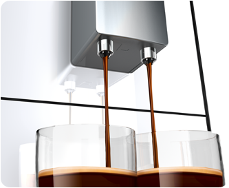 Height adjustable coffee outlet
