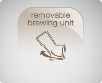 Brewing unit can be removed at the side